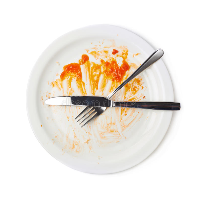 Sobras anaranjadas de la comida de la salsa aisladas imágenes de archivo libres de regalías