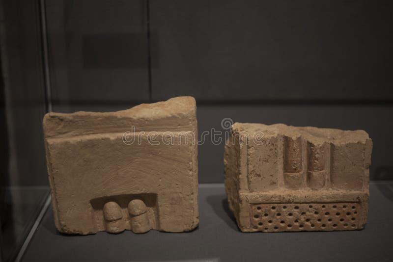 Sobras da sociedade megalítica antiga | O museu de Valletta imagem de stock royalty free