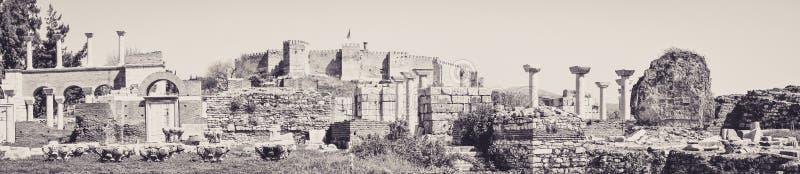 Sobras de uma civilização anterior em Ephesus imagens de stock royalty free