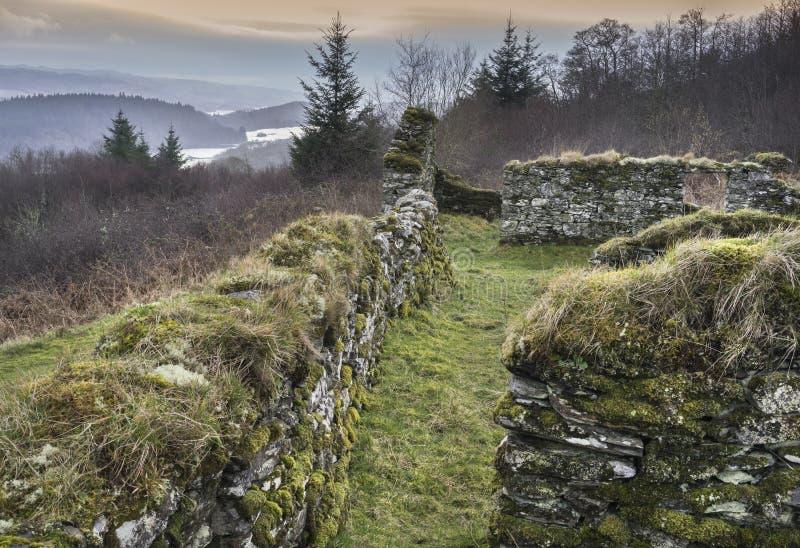 Sobras do assombro do distrito de Arichonan em Escócia imagens de stock royalty free