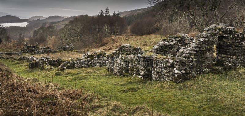 Sobras do assombro do distrito de Arichonan em Escócia fotos de stock royalty free