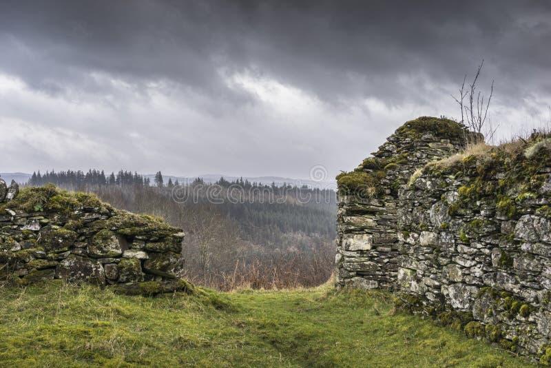 Sobras do assombro do distrito de Arichonan em Escócia fotografia de stock royalty free