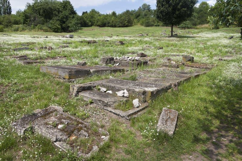 Sobras do campo de concentração alemão anterior Plaszow foto de stock royalty free