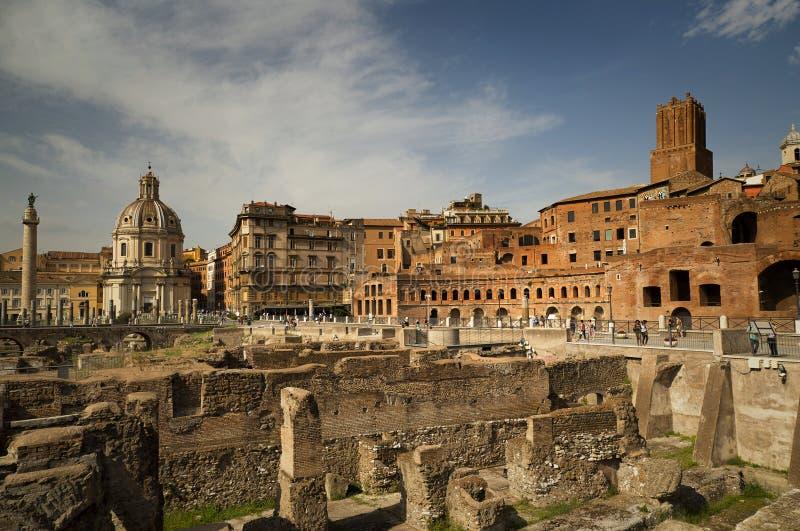 Sobras do fórum de Augustus fotos de stock