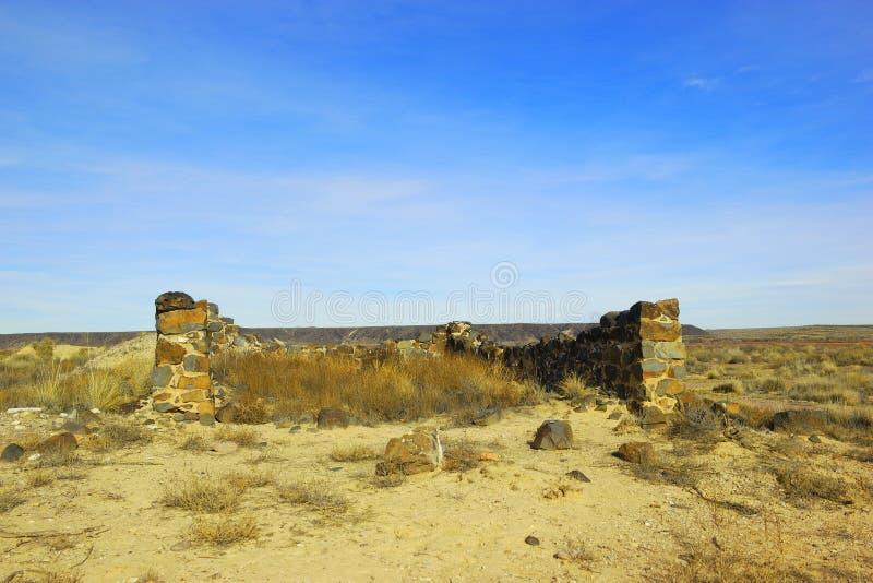 Sobras do forte Craig New Mexico foto de stock