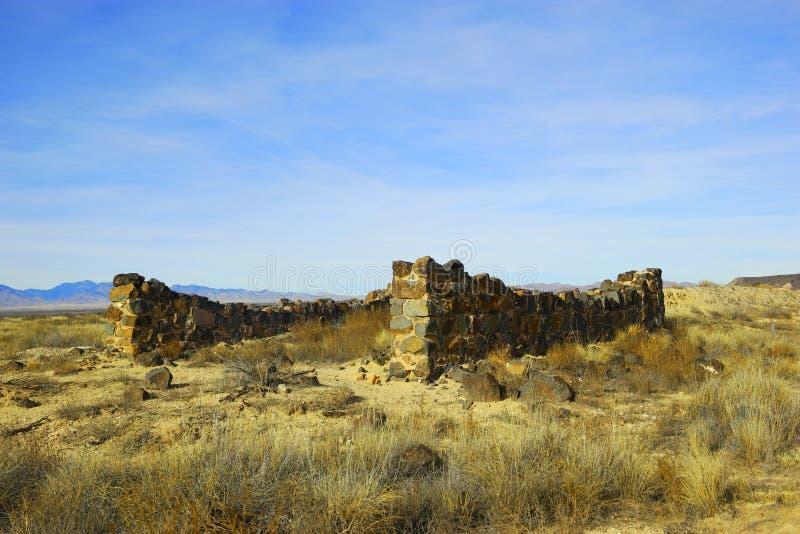 Sobras do forte Craig New Mexico imagens de stock