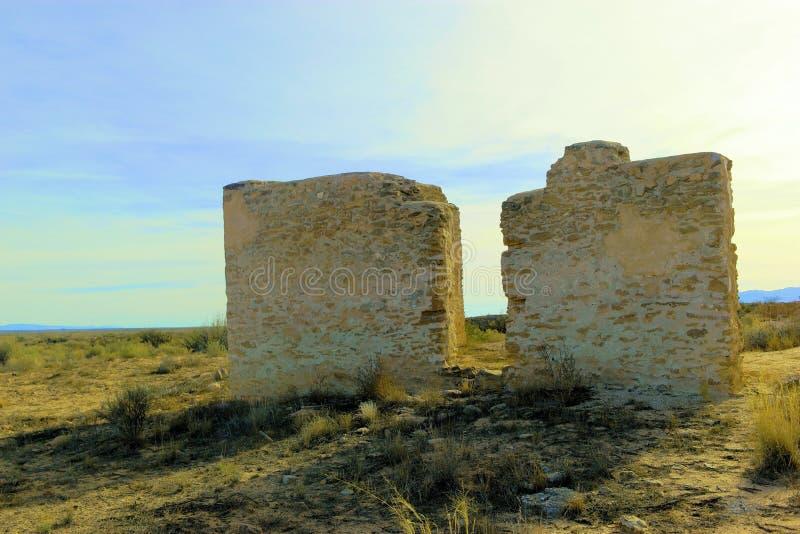 Sobras do forte Craig New Mexico fotos de stock