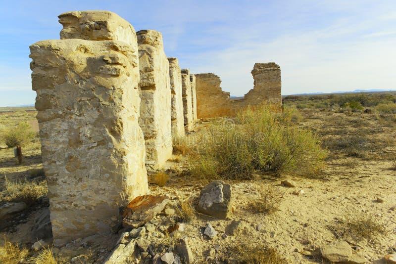 Sobras do forte Craig New Mexico fotos de stock royalty free