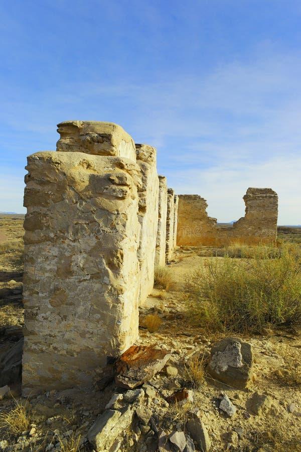 Sobras do forte Craig New Mexico imagens de stock royalty free