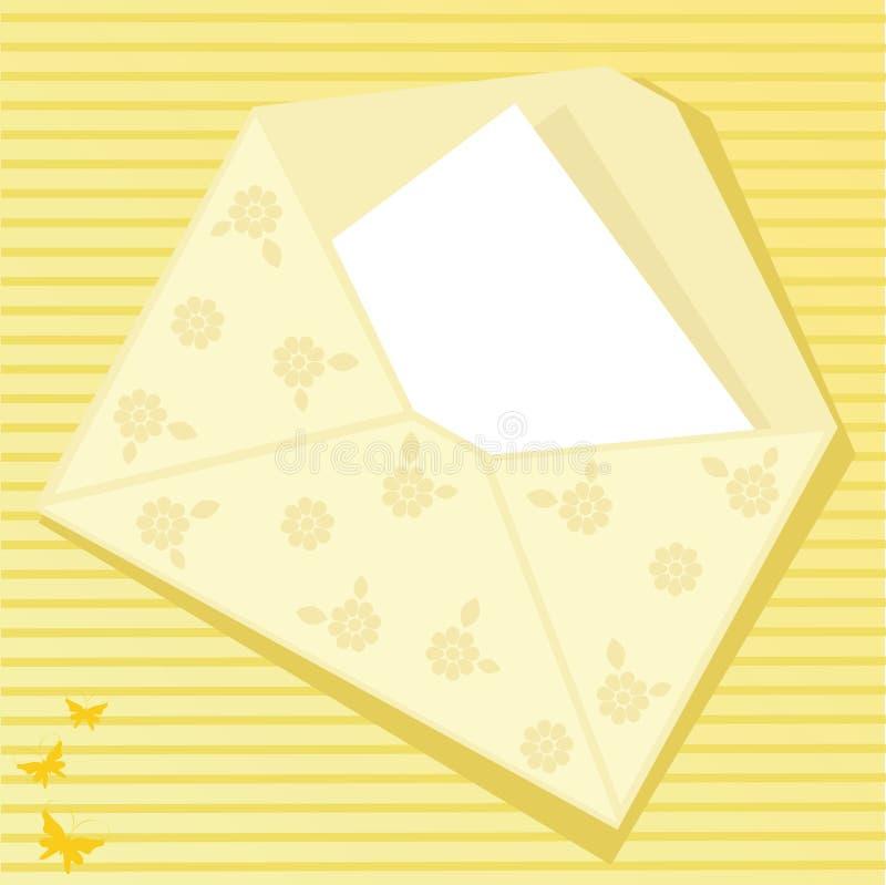 Sobre amarillo stock de ilustración