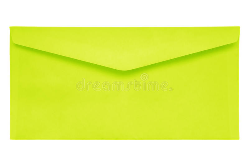 Sobre cerrado - amarillo imagen de archivo libre de regalías