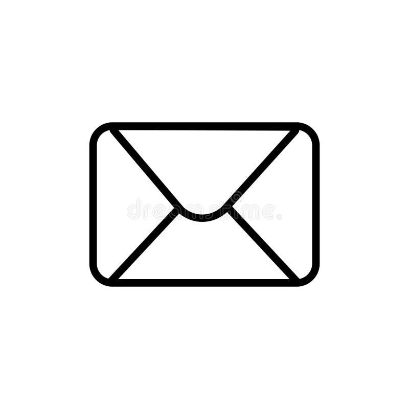 Sobre cerrado para el correo del correo electrónico libre illustration