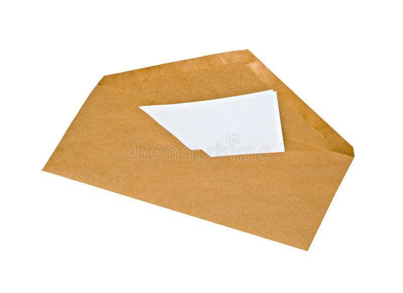 Sobre con la carta imagen de archivo