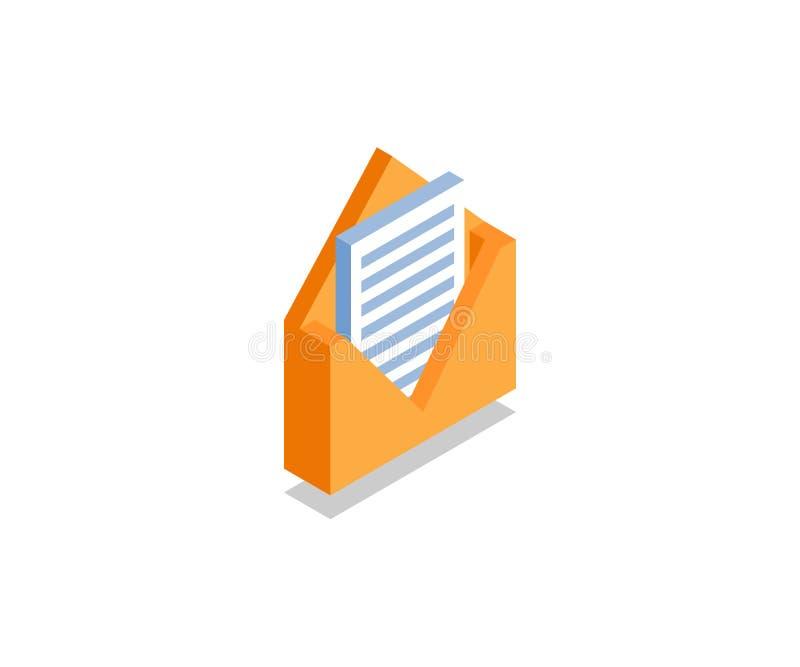 Sobre con la letra, icono del mensaje, símbolo del vector ilustración del vector