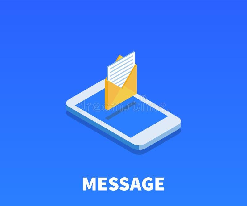 Sobre con la letra, icono del mensaje, símbolo del vector libre illustration