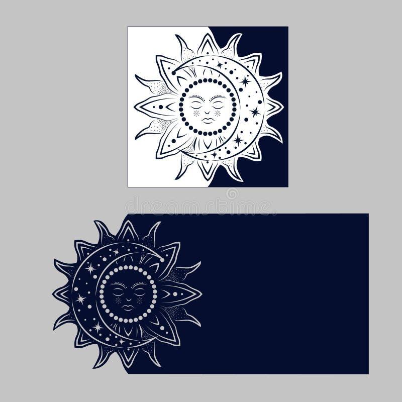 Sobre congratulatorio de la disposición con el modelo tallado La plantilla ilustración del vector