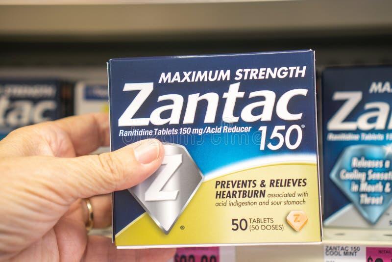 Sobre a Contra-medicação Zantac foto de stock royalty free