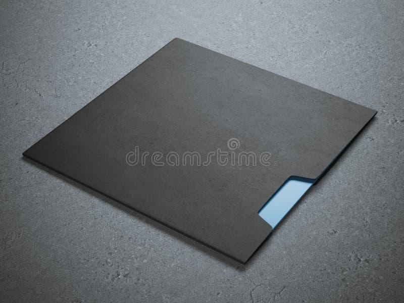 Sobre de la casilla negra imagen de archivo