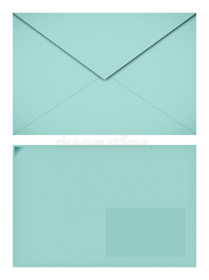 Sobre de papel en colores pastel imagen de archivo libre de regalías