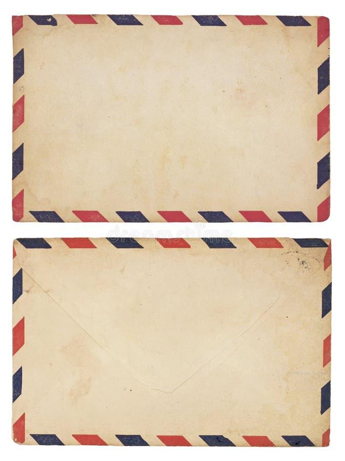 Sobre del correo aéreo de la vendimia fotos de archivo