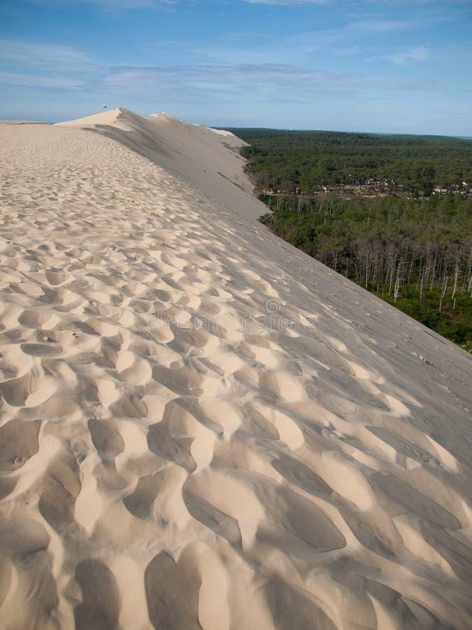 Sobre a duna de Pyla, Arcachon, France durante foto de stock royalty free