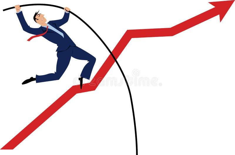 Sobre el límite ilustración del vector