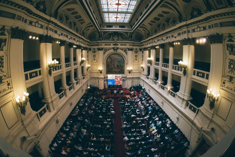 Sobre el pasillo del congreso anterior del honor fotos de archivo libres de regalías