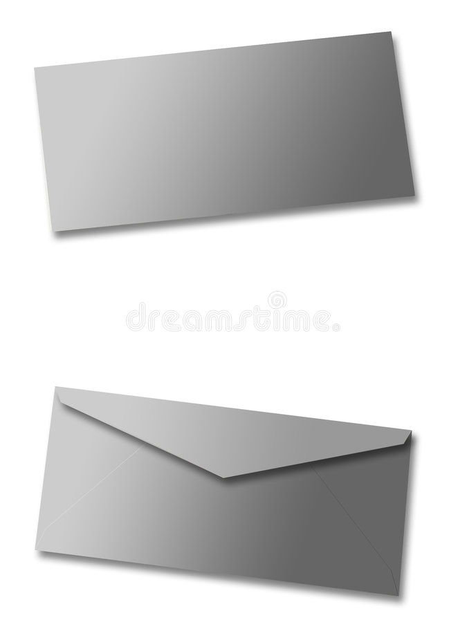 Sobre en blanco ilustración del vector