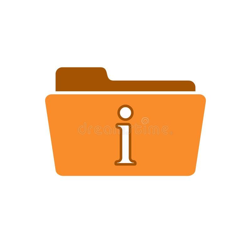 Sobre icono de la ayuda de la información de la información de la ayuda de la carpeta de la comunicación libre illustration