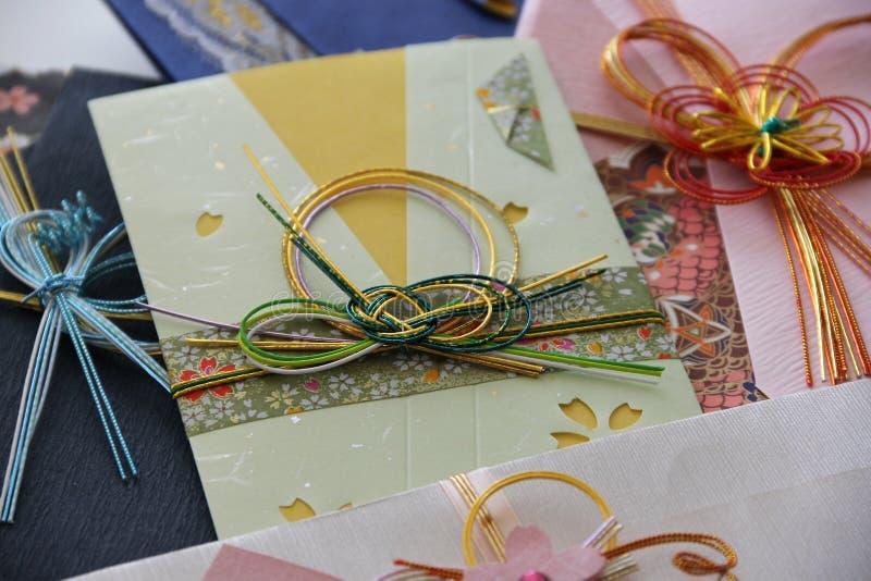 Sobre japonés del dinero del kimono fotografía de archivo libre de regalías