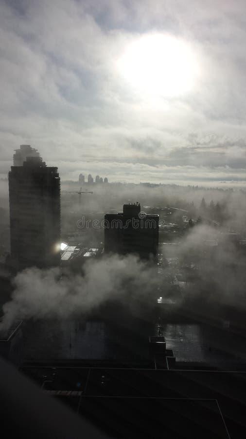 Sobre la construcción de las nubes imagen de archivo libre de regalías