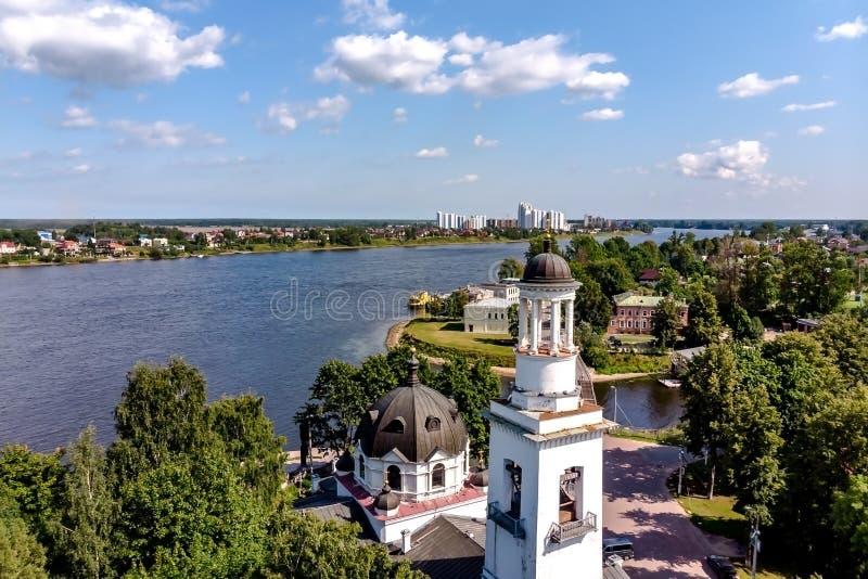 Sobre la iglesia de príncipe Alexander Nevsky del St Distrito de Ust '- Izhora de St Petersburg Rusia fotografía de archivo libre de regalías
