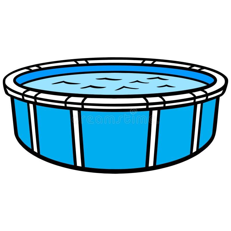 Sobre la piscina de tierra ilustración del vector