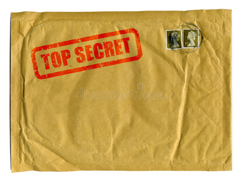 Sobre marrón grande con el sello secretísimo fotografía de archivo libre de regalías