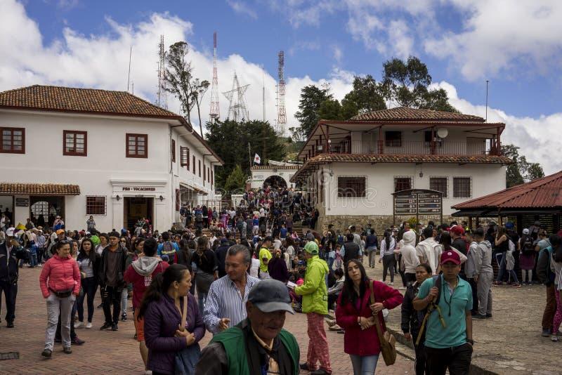 Sobre Monserrate Bogotá Colômbia foto de stock royalty free