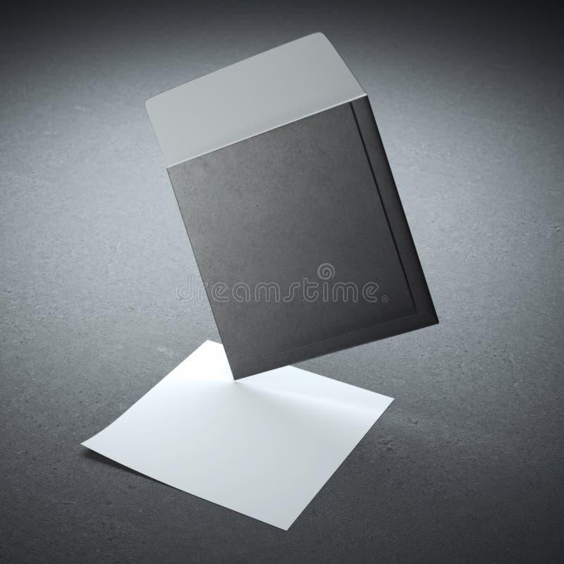 Sobre negro cuadrado fotos de archivo libres de regalías