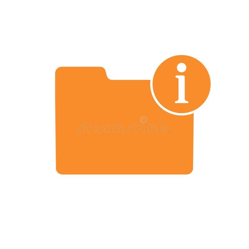 Sobre o ícone do apoio da informação da informação da ajuda do dobrador de uma comunicação ilustração royalty free