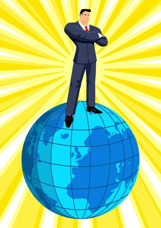 Sobre o mundo ilustração do vetor