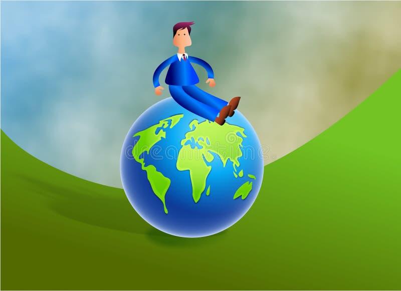 Sobre o mundo ilustração stock