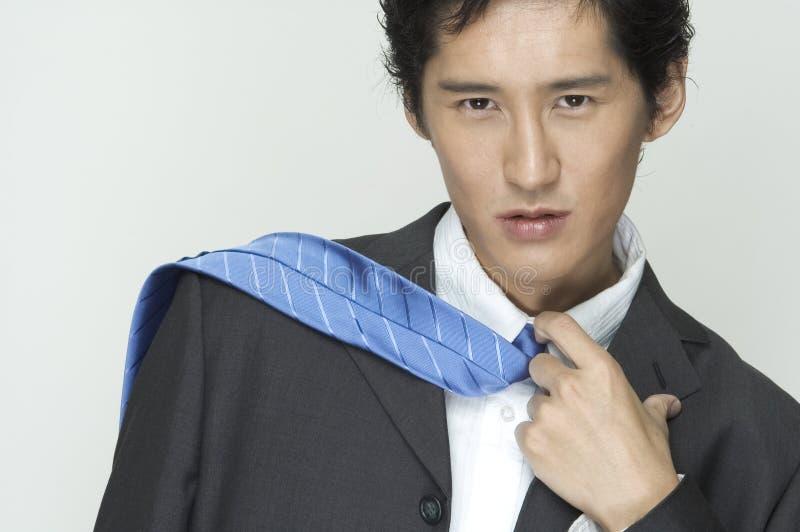 Download Sobre o ombro imagem de stock. Imagem de azul, modelo, revestimento - 100267