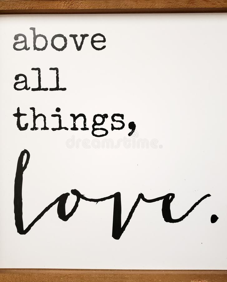 Sobre todo cosas, amor fotografía de archivo libre de regalías