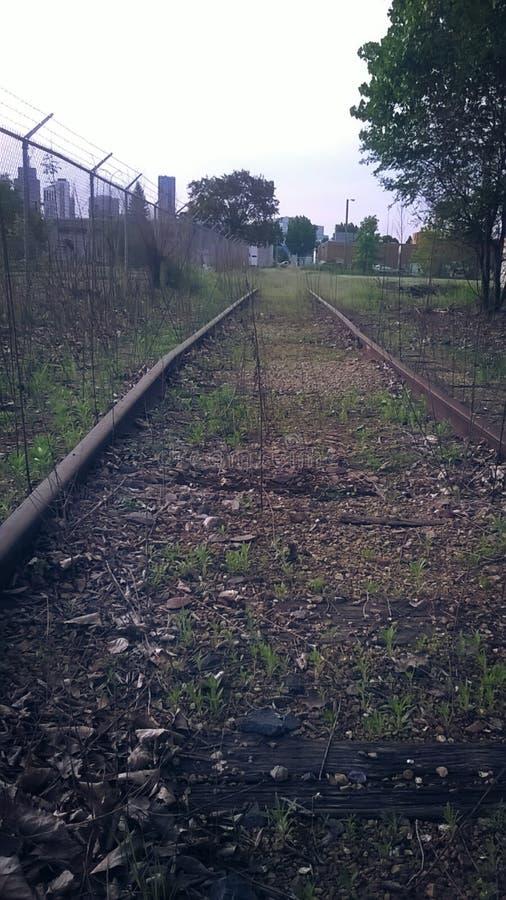 Sobre a trilha do trem da corrida imagens de stock