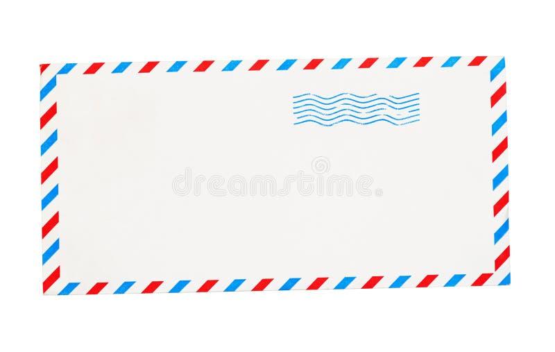 Sobre vacío con las fronteras rojas y azules libre illustration