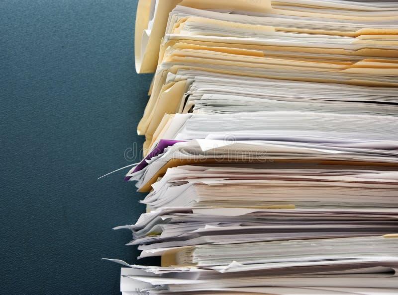 Sobrecarga de papel imágenes de archivo libres de regalías