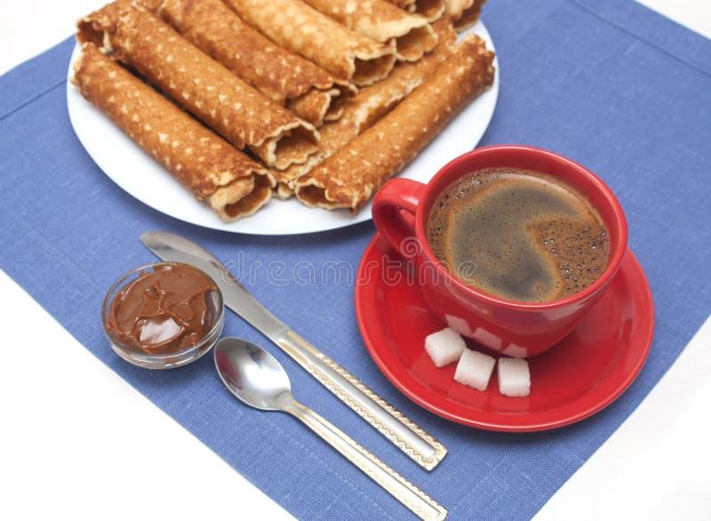 Sobremesa caseiro de Tobes do waffle fotografia de stock royalty free