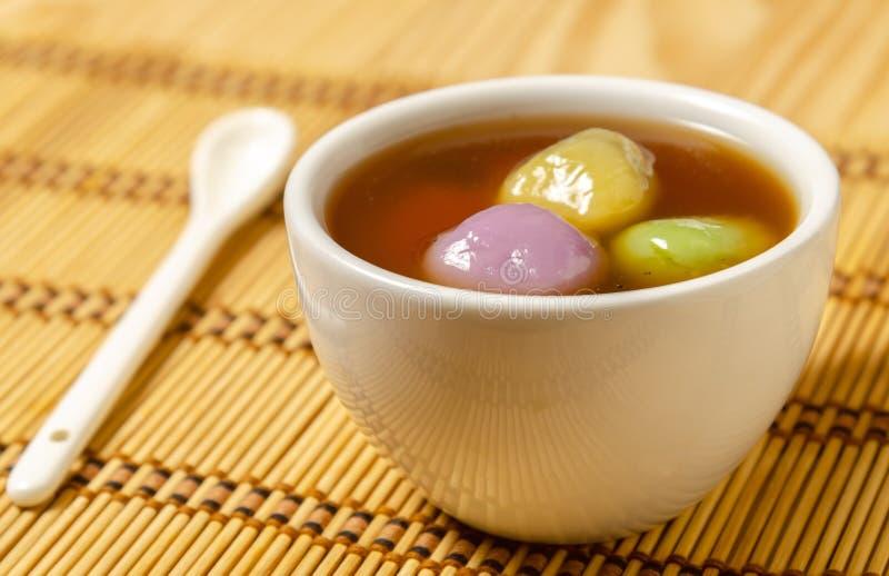 Sobremesa chinesa Tang Yuan foto de stock royalty free