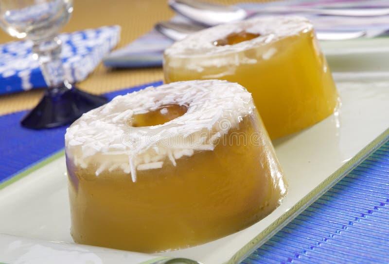 Sobremesa da geléia do coco imagem de stock