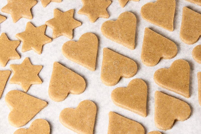 Sobremesa da preparação Cookie do pão-de-espécie Massa pronta fotografia de stock
