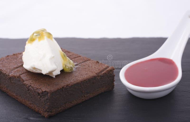 Sobremesa deliciosa fotografia de stock