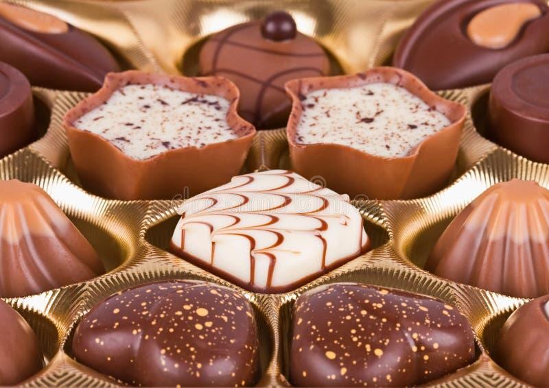 Sobremesa deliciosa do chocolate foto de stock